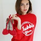 "Felpa rossa ""Bubble Gum"""
