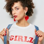 T-Shirt Girlz Rouge