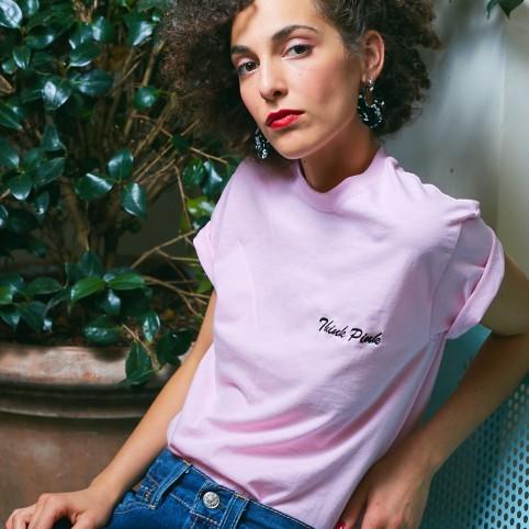T-Shirt rose Think PInk
