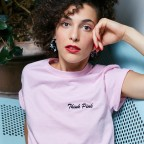 T-Shirt rose Think PInk