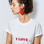Red earrings Love