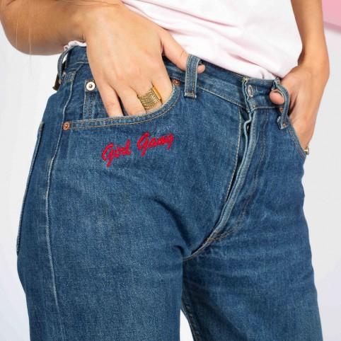Jeans Girl Gang Brodé