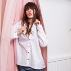 Chemise Yvonne Blanche Coeurs