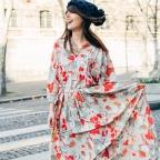 Robe vintage multicolore