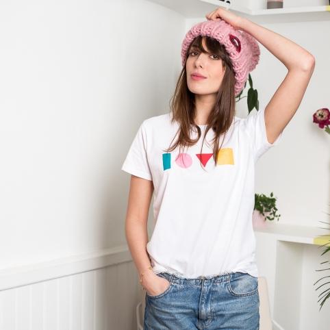 T-shirt Gaston blanc
