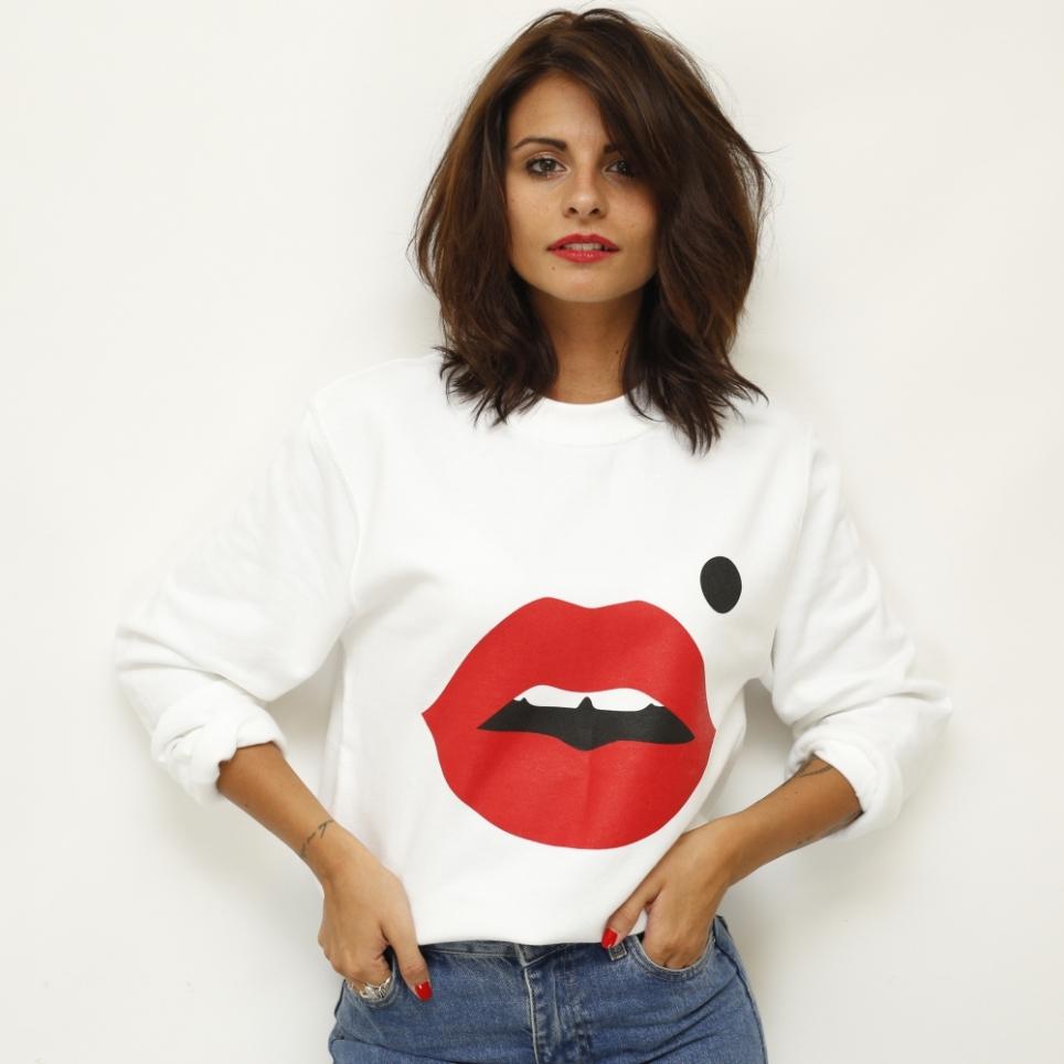 Sweat-Shirt blanc Cindy