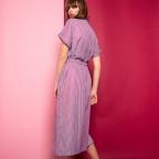 Robe Barbara Bleue Rayures