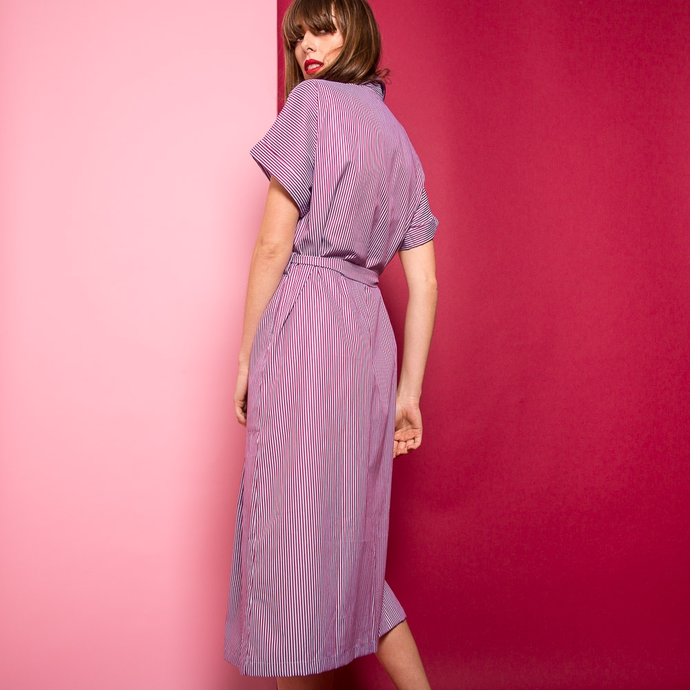 35da164244e43 Robe Barbara stripes