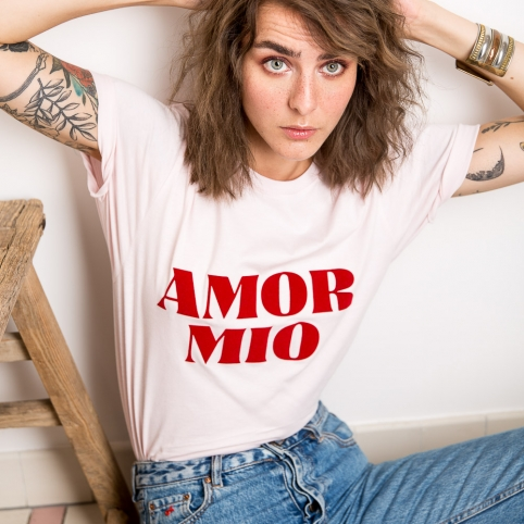 T-Shirt Amor Mio Rose