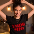 "T-Shirt ""Amor Mio"" Black"