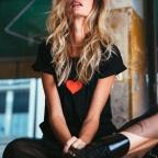T-shirt Greta noir