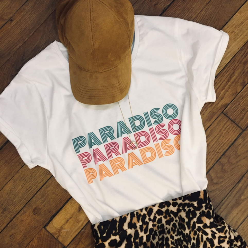 T-shirt Paradiso white
