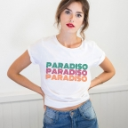 T-shirt Paradiso blanc