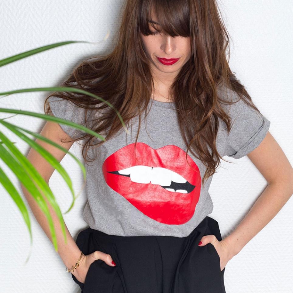 T-shirt Martina Gris
