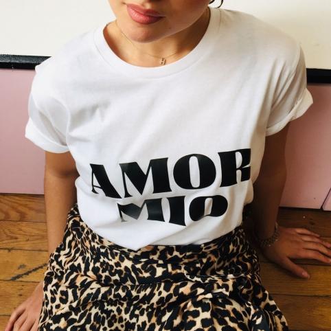 T-shirt Amor Mio blanc