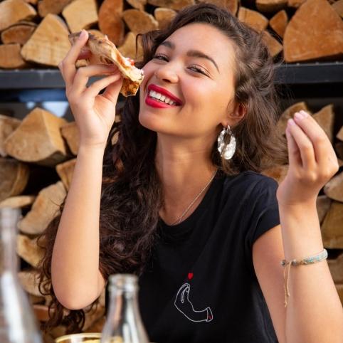 T-shirt Adriana noir