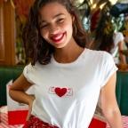 T-shirt Power of Love velours
