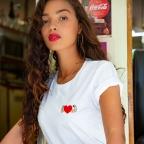 T-shirt Power of Love brodé