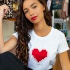 T-shirt Téléchargement en coeur