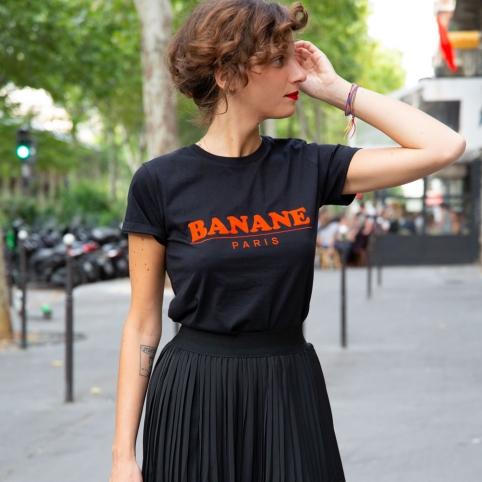 T-shirt Banane Paris Noir