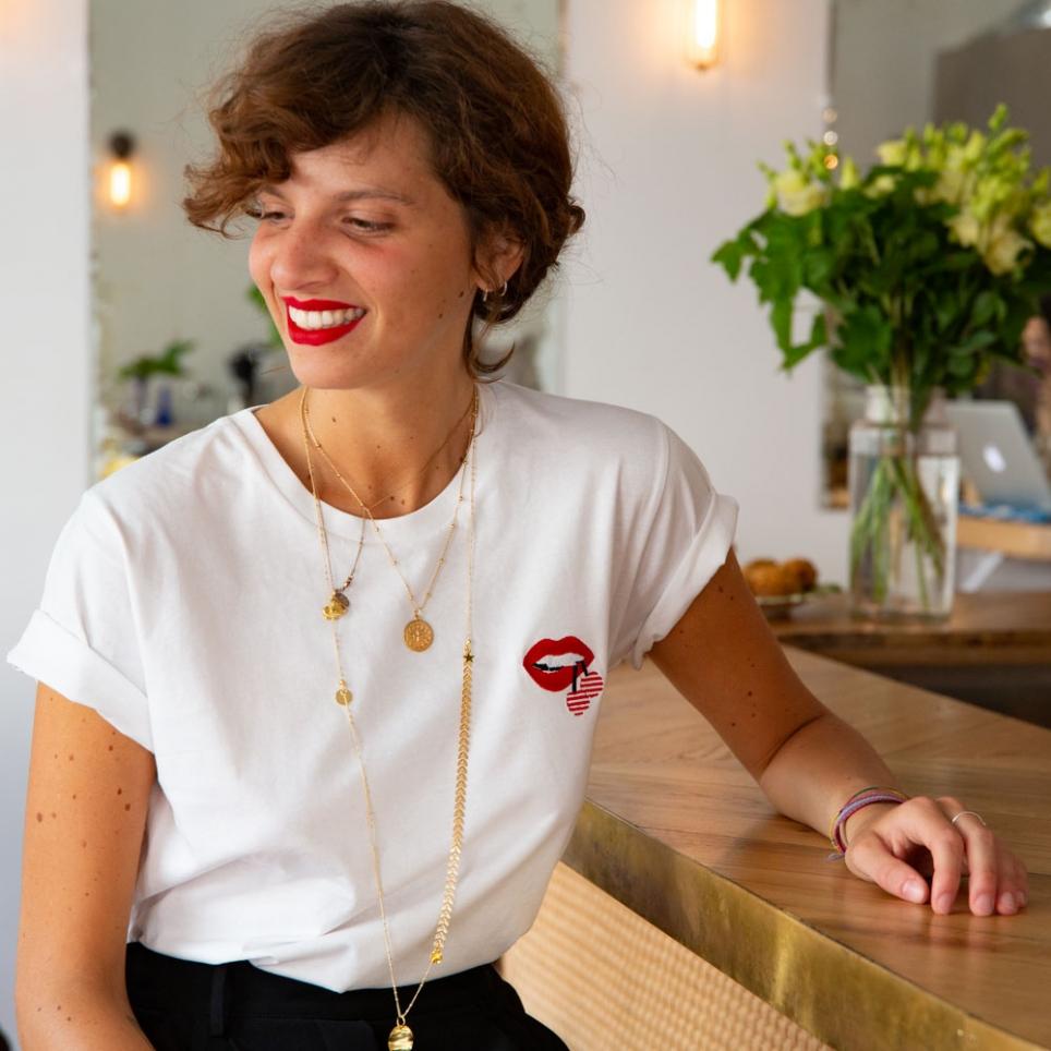 T-shirt Martina Cérise