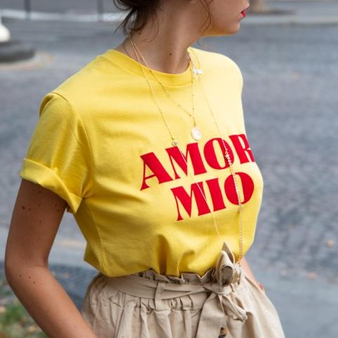 T-Shirt Amor Mio Jaune