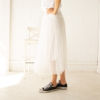 White tull skirt