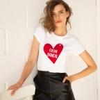 T-shirt Alina Coeur Bancal