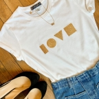 T-shirt Love Gold