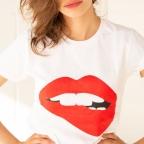T-shirt Martina imprimé blanc