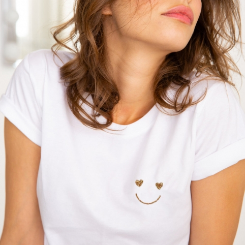 T-shirt Smile Gold