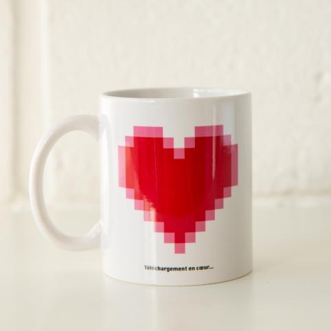 tasse téléchargement en cœur