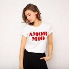 T-shirt Amor Mio blanc et rouge