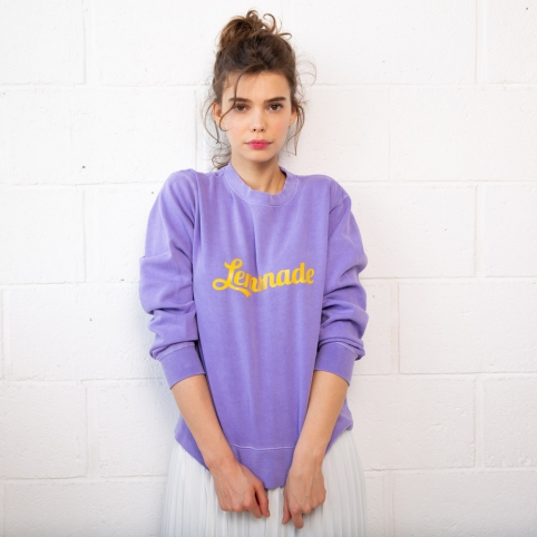 Sweat Lemonade Violet et Jaune