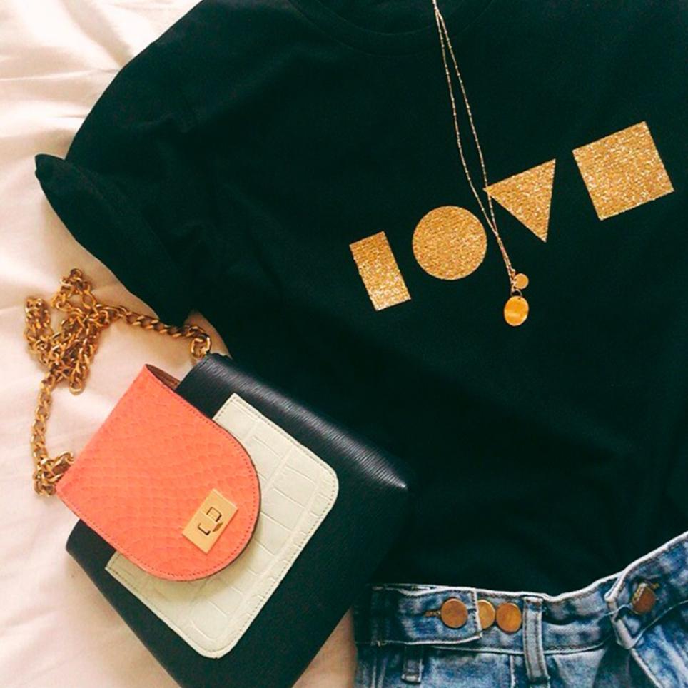 T-shirt Gaston Gold noir