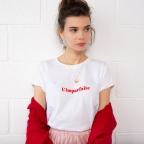 T-shirt L'imparfaite blanc