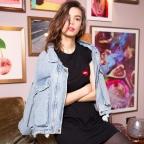 Robe T-shirt Mathilde noire