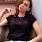 T-shirt Celine Loves noir