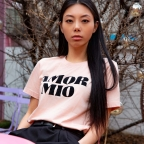 T-shirt Amor Mio Old Pink