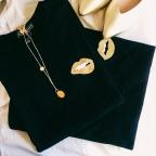 T-shirt Martina Gold Black