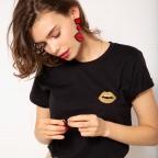 T-shirt Cindy Gold Noir