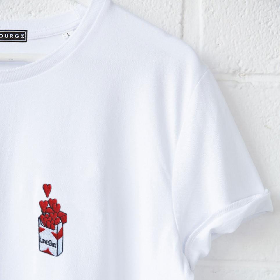 T-shirt Love Box brodé