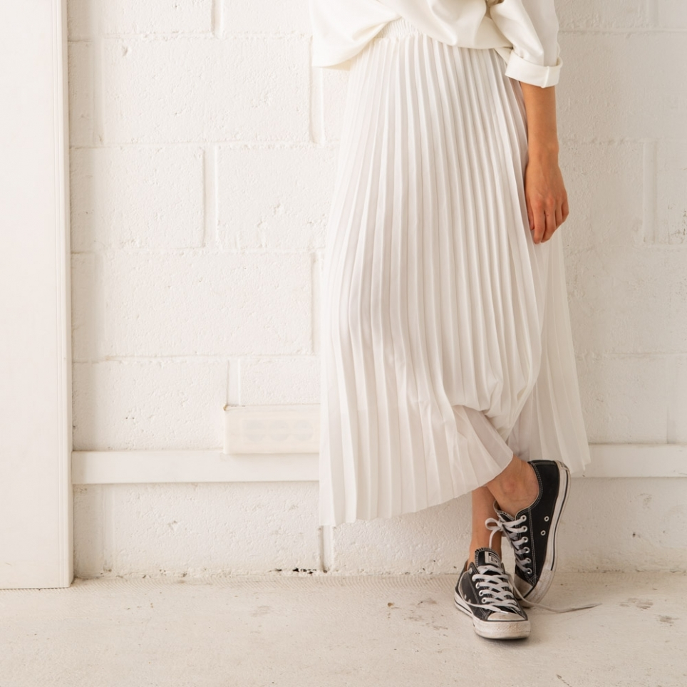 Jupe plissée blanche