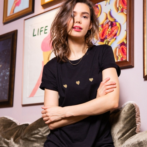 Robe T-shirt Celine Noire