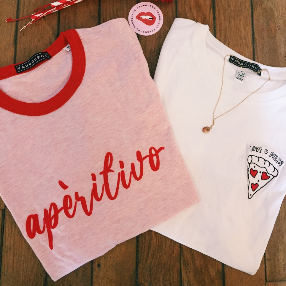 T-Shirt Aperitivo Rose Col Rouge