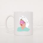 Tasse Fille Masque Caffé