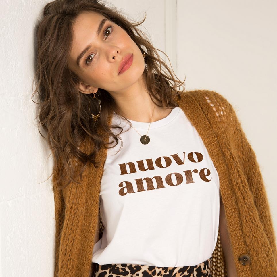 T-Shirt Nuovo Amore Cuir martelé