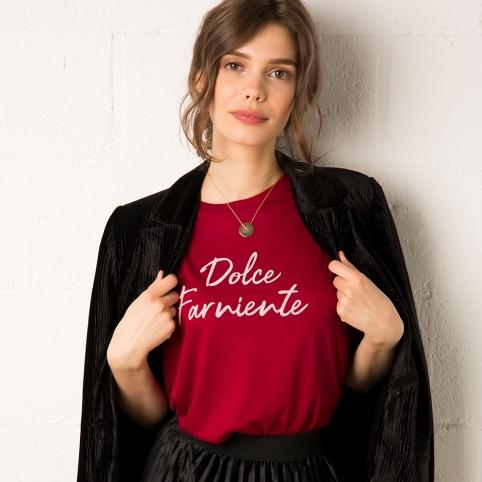 T-Shirt Dolce Far Niente Bordeaux