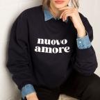 Sweat Nuovo Amore Bleu Navy