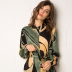 Robe Chemise Ludovica Verte/Marrone
